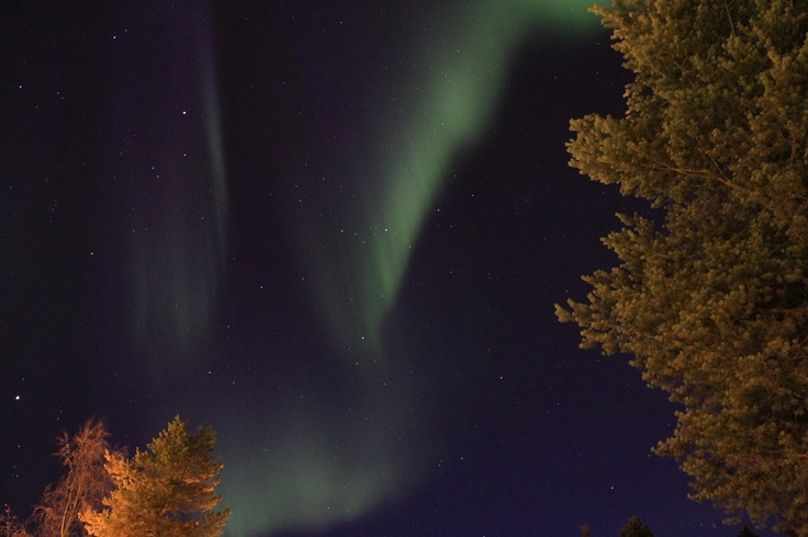 Aurora Borealis. Shot was taken Easter week in Ylläs, Lapland.