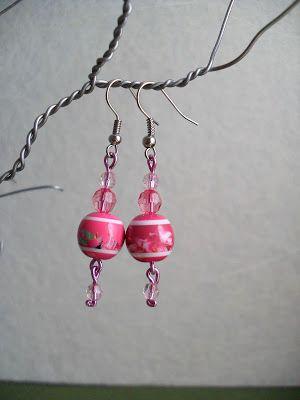 Coisas Queridas: Brincos cor de rosa - 3875