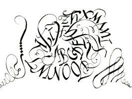 Calligraphy writing asmr maria