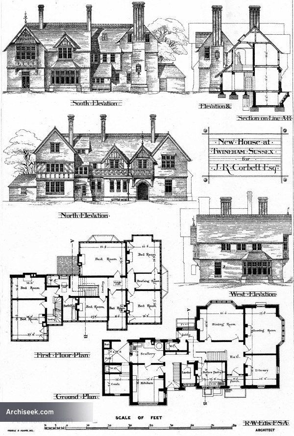 17 best images about retro house plans on pinterest for Witches cottage house plans