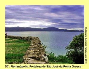 ILHA SANTA CATARINA (SC): View from Fortaleza São José da Ponta Grossa