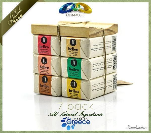 Natural Handmade Organic Soaps Gift Set (7 Pack) Helleo – OLYMPICCO.COM