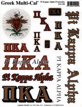Show your fraternity pride with our stickers. Place these stickers on your car, computer, window, or anywhere you want to show your Pike spirit.