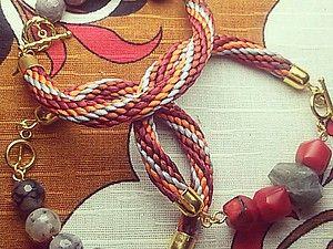 О японских традициях и технике плетения шнуров-косичек. Кумихимо | Ярмарка Мастеров - ручная работа, handmade