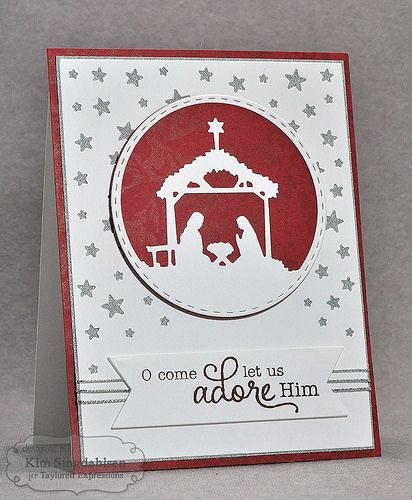 TE Away in a Manger Diecut