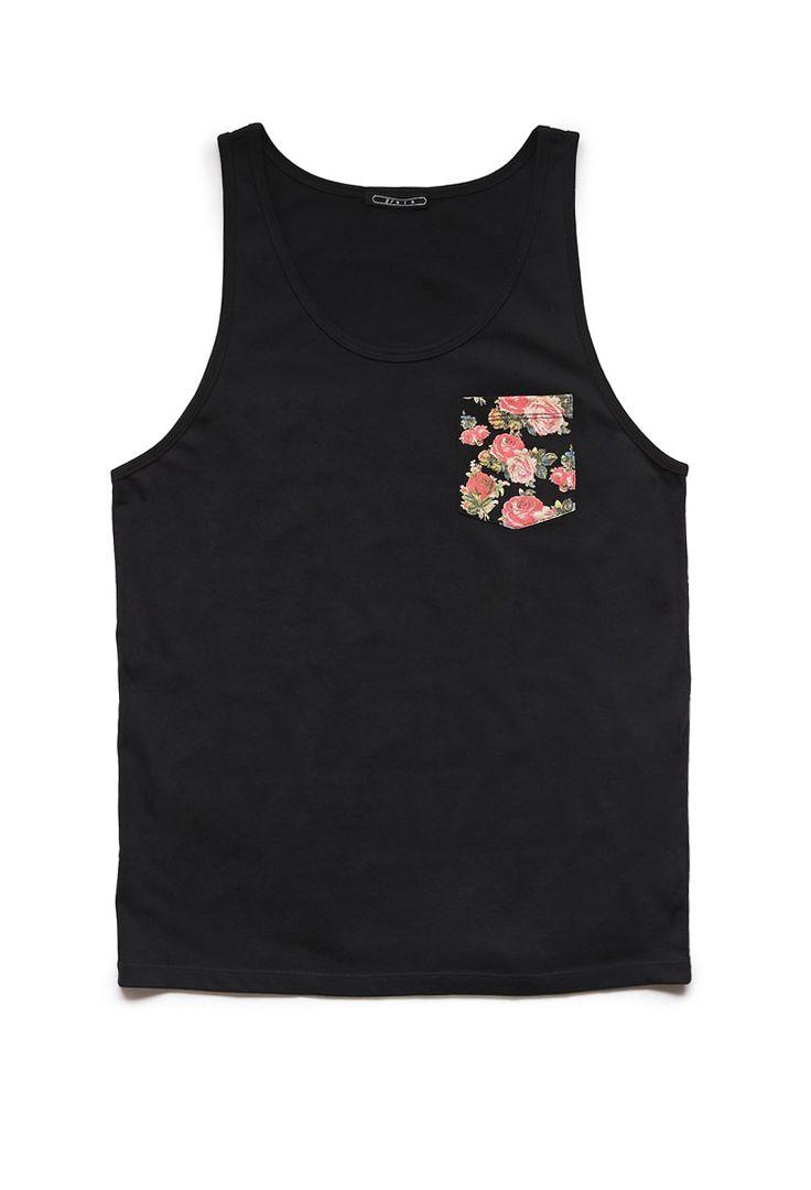 Floral Pocket Tank | 21 MEN #21Men