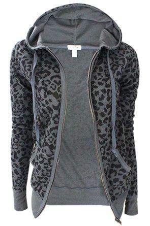 Just a basic animal print, thermal hoodie<3