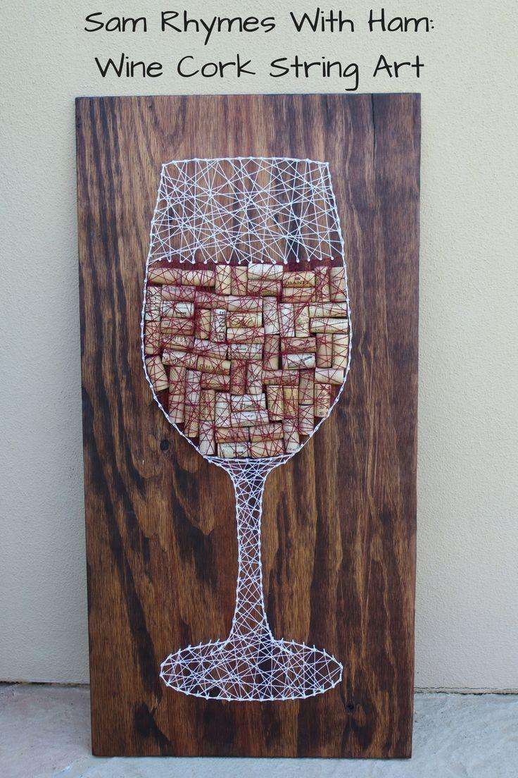 Wine Cork String Art Tutorial More