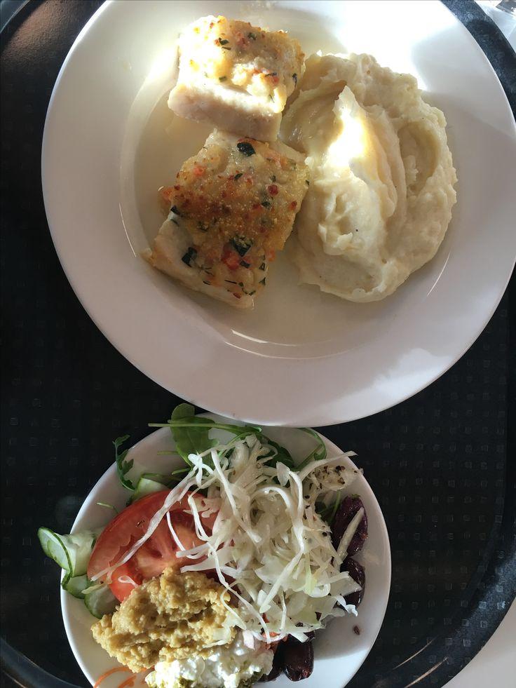 Fisk Prima Vera med potatismos