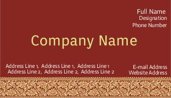 Business Card printing for Saree Shop | Printasia | Visiting Cards ...
