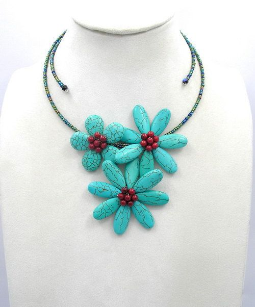 bridesmaid gifts,beadwork necklace,bib necklace,statement necklace,Beaded Jewelry,turquoise necklace ,choker necklace  WithTurquoise
