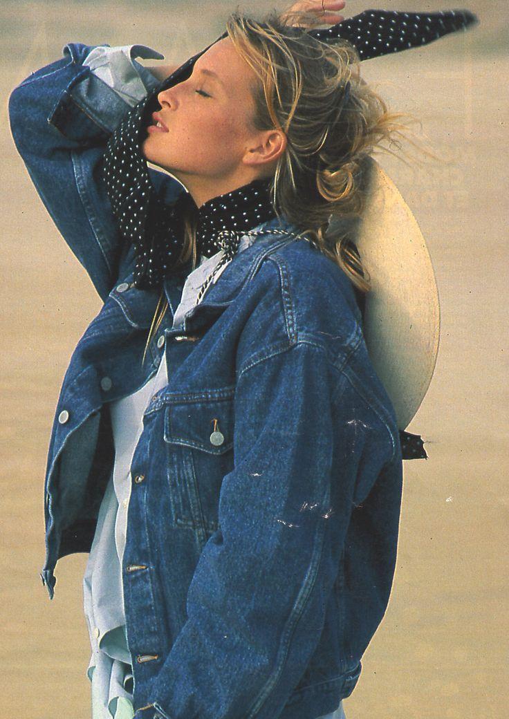 Vintage cowgirl. Estelle Lefebure. Marc Hispard 1988: