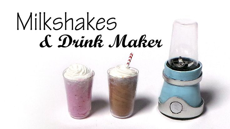 Hey guys! Today we're making a simple drink maker or blender together with a couple of milkshakes from polymer clay :) You could make smoothies, juice or oth...