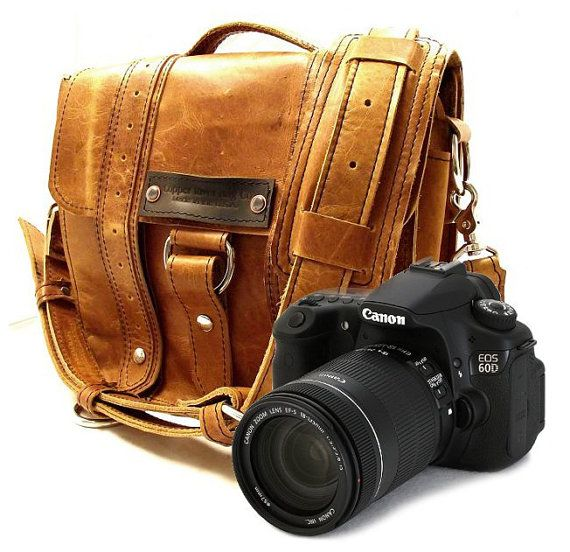 Hand Crafted Leather Camera Bag..