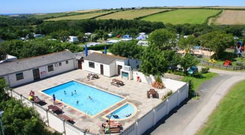 Treloy Touring Park Newquay, Cornwall, UK, England. Holiday Park. Camping. Campsite. Swimming Pool. Golf Nearby. Outdoors. Countryside. Walking.