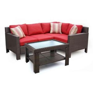Beverly All-Weather Wicker 5-Piece Sectional Patio Set-65-510233 at The Home Depot only 799.00 onlinePatios Furniture, Outdoor Furniture, All Weaths Wicker, Seats Sets, Reading Spot, Patio Sets, Patios Sets, Patios Seats, Backyards Gardens
