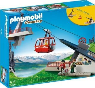 PLAYMOBIL® Alpine Cable Car, No. 5426 `One size The cabin rises and falls thanks to a crank, The maximum length of the cable is 2 metres, Theme: Country Details : 4 character(s), 1 cabin, 1 Camera, 1 shovel(s), 1 ice axe, 1 back pack Age : Age 4 an http://www.comparestoreprices.co.uk/january-2017-7/playmobil®-alpine-cable-car-no-5426-one-size.asp