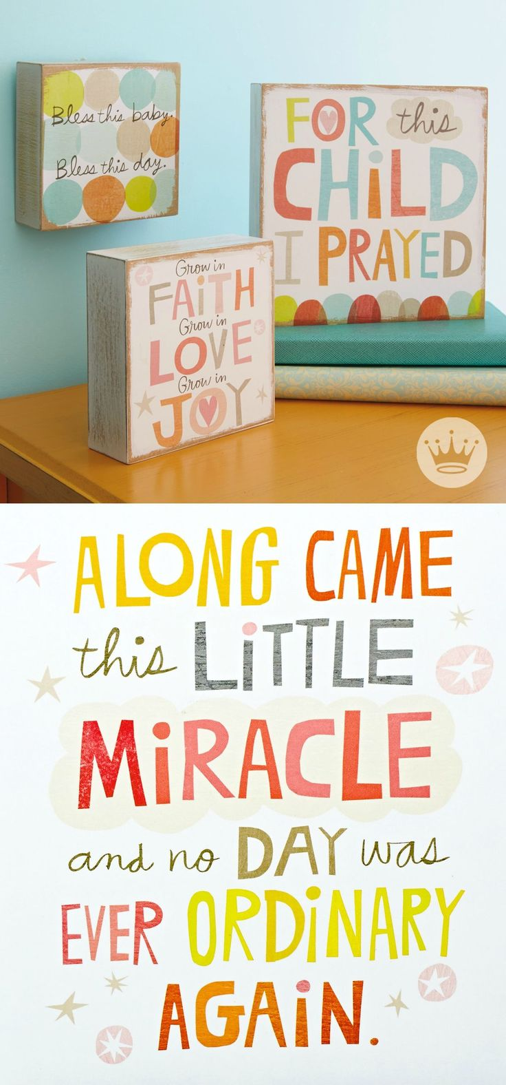 These colorful, hand-lettered sentiments capture the emotion and gratitude that comes along with a new baby.