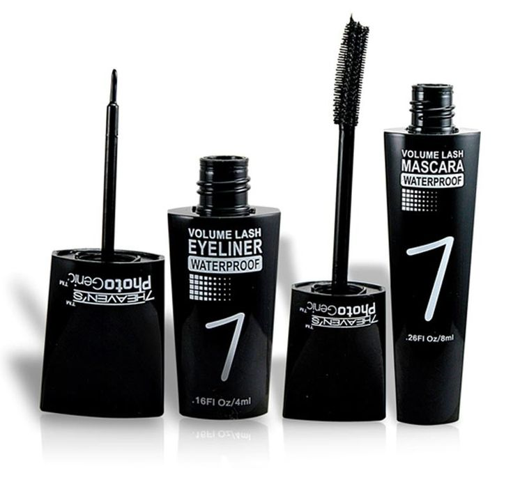 7+HEAVEN'S+PHOTO+GENIC+WATERPROOF+MASCARA+&+EYELINER+Free+Liner+&+Rubber+Band+. 1+Eye+liner::+1mascara+::+…