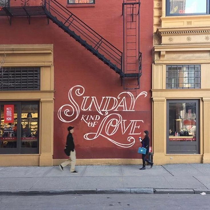 Lettering inspiration—It's not Sunday, but do you feel it? Created by @efdot This looks so good its almost like a hollywood film set, love it.