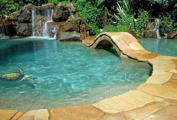 Shadow Loggerhead Turtle Swimming Pool Tile