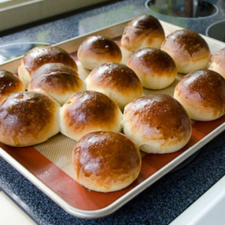 Milk Bread Recipe Breads with active dry yeast, warm water, milk, butter, sugar, eggs, salt, bread flour, all-purpose flour, eggs, salt, vegetable oil cooking spray