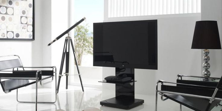 Support TV sur Pied Orientable Gisan FS101NE Noir