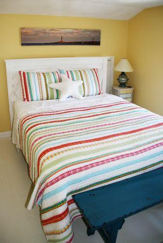 beach house bedroom, beach cottage bedroom, coastal style bedroom, nautical bedroom design