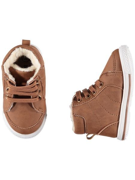 Baby Boy Brown Trainers - find at #bestandless Australia.
