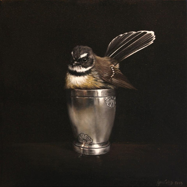 New Zealand Painter: Jane Crisp,  'Cute in a Cup'    2013