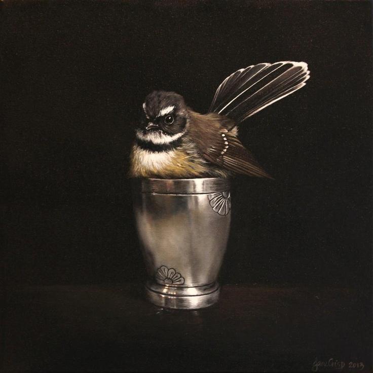 'Cute in a Cup' (2013) by New Zealand artist Jane Crisp. via Soul Gallery