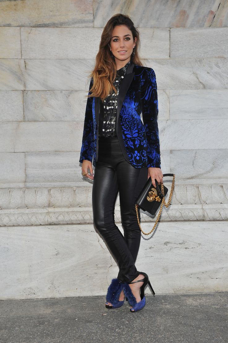 #RobertoCavalli Womenswear SS 2014 Fashion Show - Blanca Suarez with a look, Hera bag, earings and shoes from Roberto Cavalli