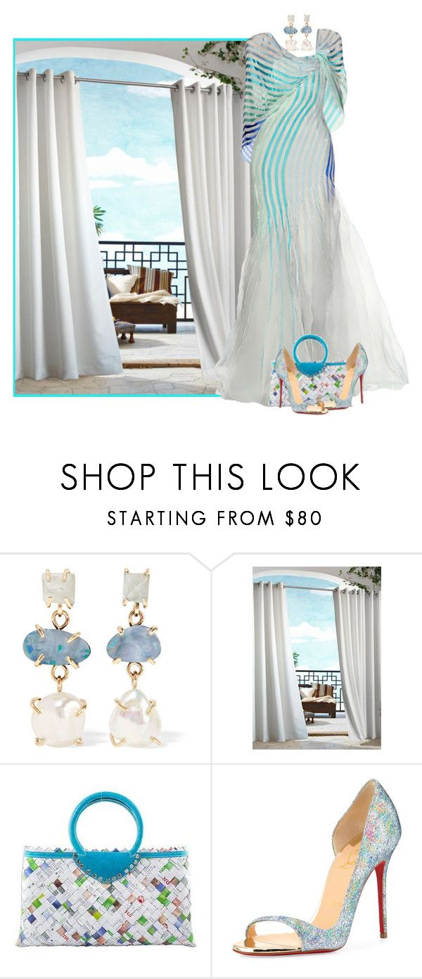 """""""Untitled #2515"""" by m-aigul712 ❤ liked on Polyvore featuring Melissa Joy Manning, Commonwealth Home Fashions, Rami Al Ali, NOVICA and Christian Louboutin"""