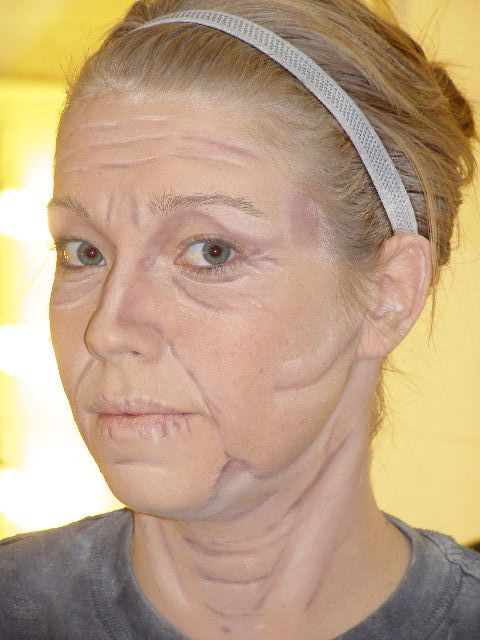 old age makeup | Old Age Makeup from Towson University's Stage Makeup class