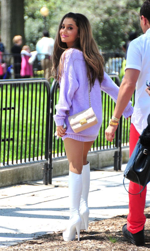 Ariana Grande's Fashion - Ariana Grande's Cutest Looks, her hair and cute outfit, wow