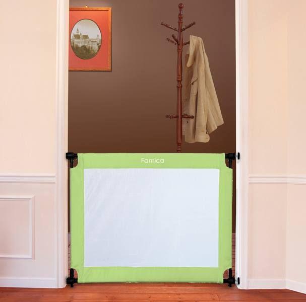 UPP® Schutzgitter Treppenschutzgitter Türschutzgitter Sicherheitsgitter mobil grün 94 - 126 cm