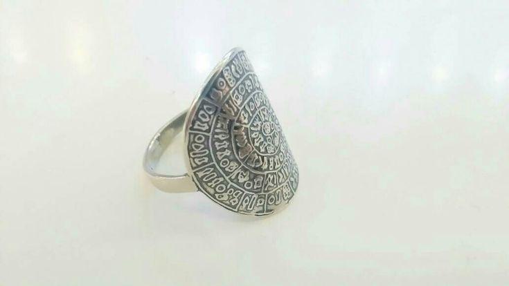#crete#phaestos#discofphaestos#festos #ring #silver #jewelry #hieroglyphics #phaistos #greekjewelry#argentumthelittleshopathens http://etsy.me/2CWFhpi