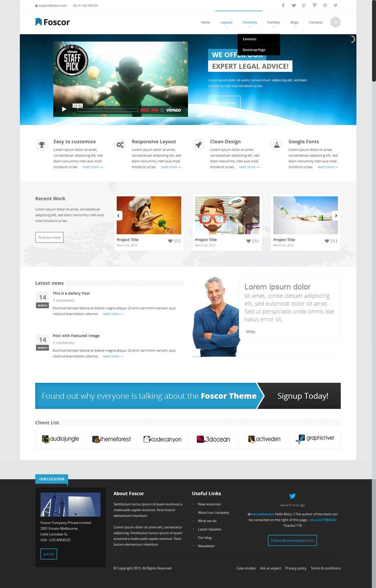 Foscor WP - Bootstrap Wordpress WooCommerce