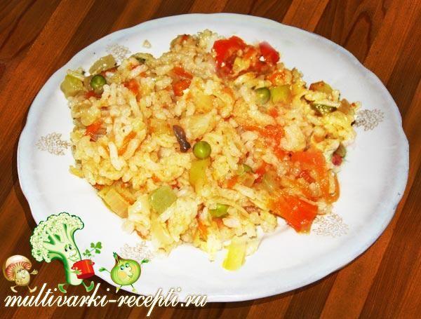Рисовая каша в мультиварке с овощной смесью