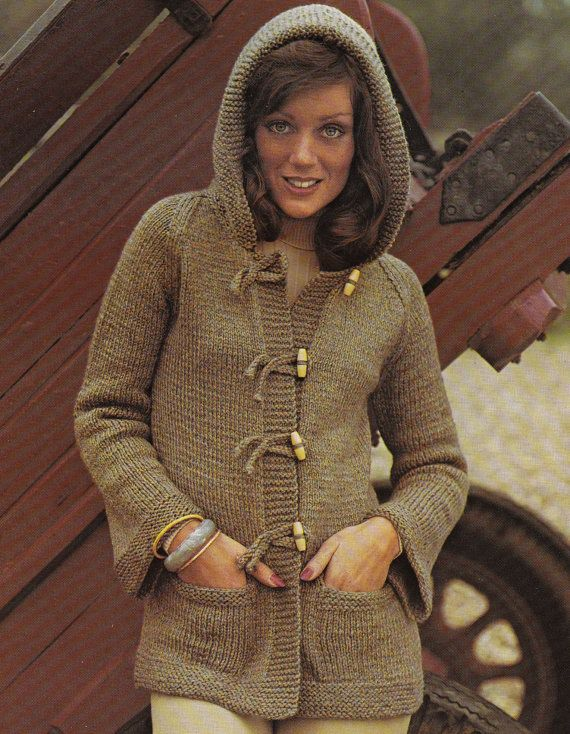 Old Knitting Lady : Best images about hoodie vintage knitting patterns on