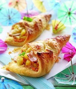 Hawaiian Pizza Pockets Recipe — Dishmaps