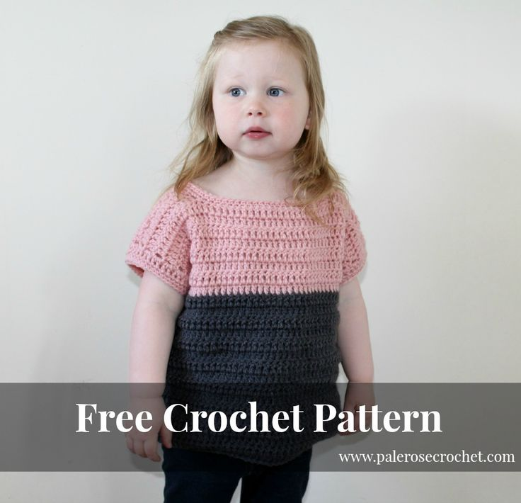 Pale Rose Crochet: Toddler Two Tone Sweater