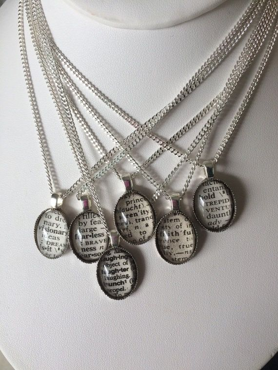 Image of Personalized Necklace - Vintage Dictionary Word Necklace