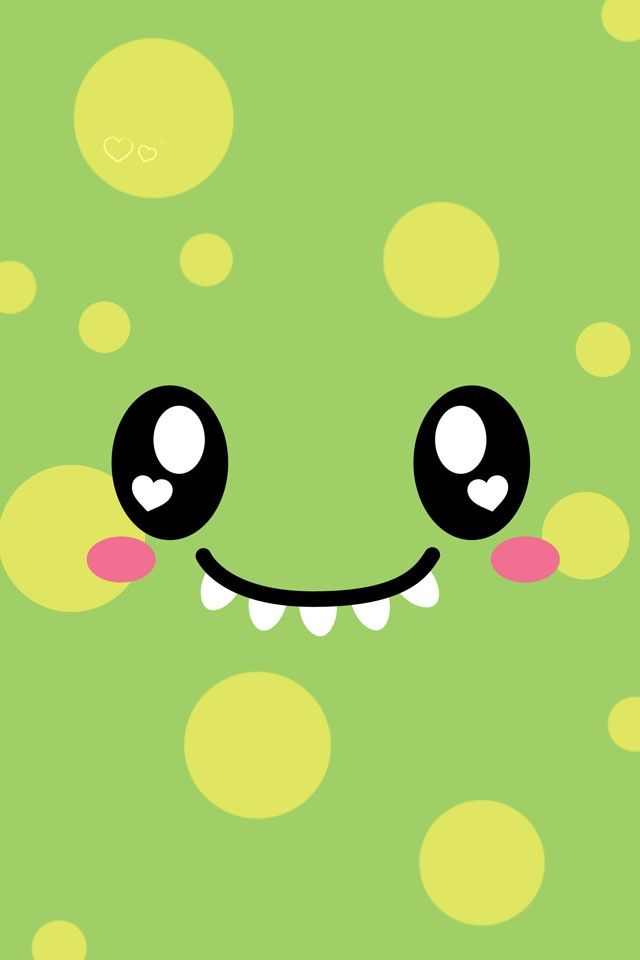 Green cute dino