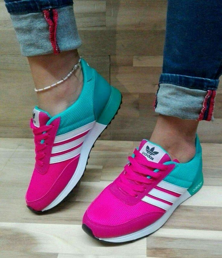 Love the colors of these adidas sneakers