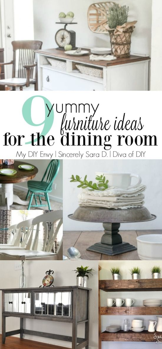 9 DIY Dining Room Furniture Ideas Link Party 8