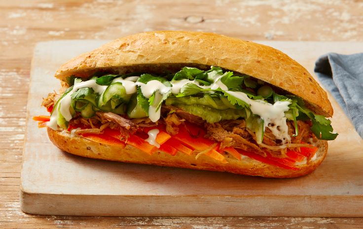 Mouthwatering Vietnamese Bahn Mi is for lunch on the 8-Week Program. We use leftovers from dinner the night before to make it easy to prepare a healthy meal the next day. Join our 8-Week Program to quit sugar: http://bit.ly/1FkrVfk