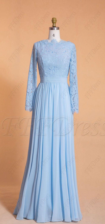 Light Blue Modest Bridesmaid Dresses Long Sleeves Modest Bridesmaid Dresses Long Light Blue Bridesmaid Dresses Long Sleeve Bridesmaid Dress [ 1500 x 707 Pixel ]