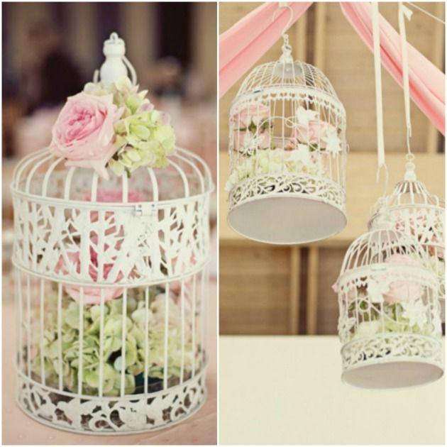 Deko-Vogelkäfige sind eine überaus schöne, romantische und stylische Dekoration. Darüber hinaus verleihen sie auch noch diesen gewissen Vintagetouch.