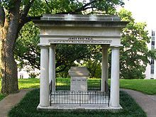 James K. Polk's tomb lies on the grounds of the state capitol in Nashville, Tennessee